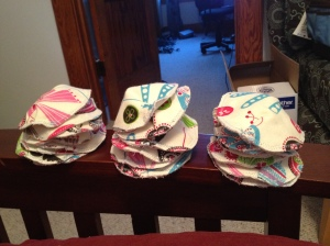 Lots of reusable nursing pad goodness. I may have gone overboard.